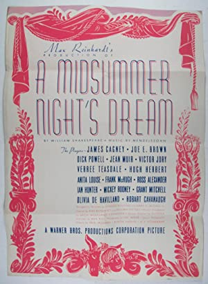 Max Reinhardt's production of A Midsummer Night's Dream: n/a