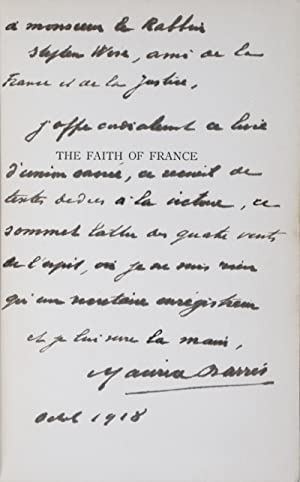 The Faith of France: Studies in Spiritual Differences and Unity [INSCRIBED, SIGNED, AND WITH AN ...