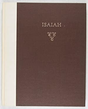 The Book of the Prophet Isaiah in The King James Version [SIGNED]: Gross, Chaim (Watercolors by); ...