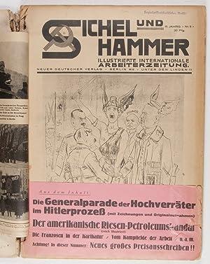 Sichel und Hammer. Illustrierte Internationale Arbeiter-Zeitung (Complete III. Jahrgang, containing...