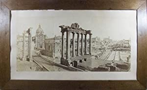 Monumental Panoramic View of The Forum Romanum, the Temple of Saturn in the foreground [ORIGINAL 3-...