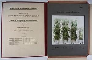 Resultados de ensayos de abono. Ejectutado por la Estación de ensayos de agricultura ...