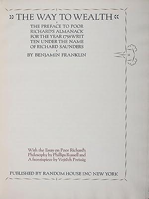 The Way to Wealth [SIGNED]: Franklin, Benjamin; Vojtech Preissig (design)