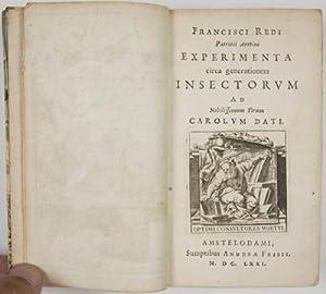 Experimenta circa generationem Insectorum Ad Nobilissimum Virum Carolum Dati: Redi, Francisco (1629...