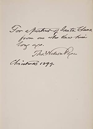 Santa Claus's Partner [INSCRIBED, SIGNED]: Page, Thomas Nelson; William Glackens (Illustrator)
