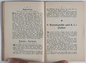 K. - C. Liederbuch Festkommers Darmstadt, 19. Okt. 1912: n/a