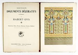 Nouveaux Documents Décoratifs en Couleurs: Ornements, Fleurs, Oiseaux, Panneaux, Tentures, ...