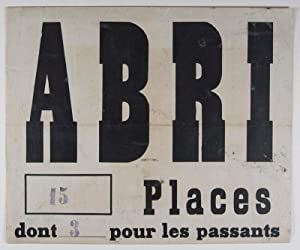 Abri 15 Places (WWII French Air Raid Shelter Sign): n/a