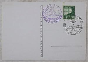 Mander s'ischt Zeit! (Original Anti-Semitic and Anti-Schuschnigg Postcard): Köck, Franz (...