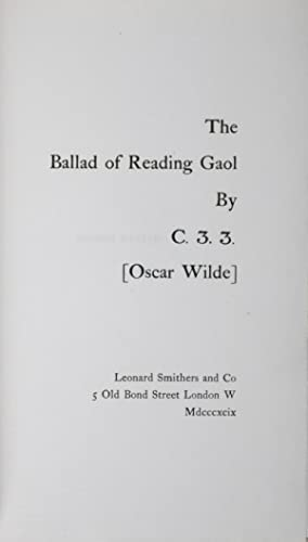 oscar wilde - ballad of reading gaol - Seller-Supplied Images - AbeBooks