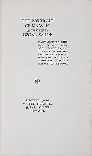 The Portrait of Mr. W. H.: Wilde, Oscar