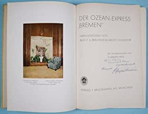 "Der Ozean-Express ""Bremen"" [INSCRIBED AND SIGNED BY THE AUTHOR]: De Groot, F.A. Breuhaus ..."