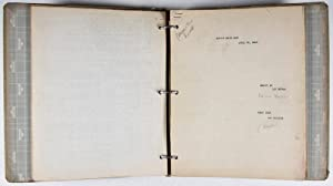 """Collection of 14 original annotated scripts from March 21, to June 27, 1945 for """"The Milton ..."""
