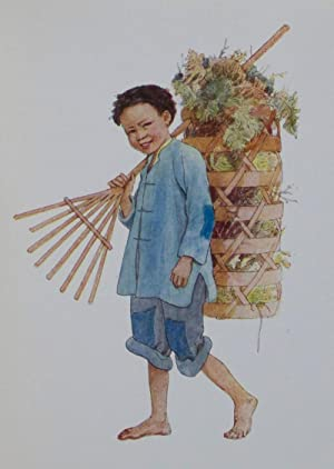 Children of China: Post-Card Painting Book: Wood, Elsie Anna (Illustrations by)