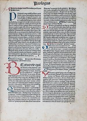 Biblia Latina [INCUNABLE]: Jerome (translator); Johann