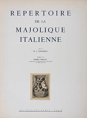 Répertoire de la Majolique Italienne: Volume I, Texte & Volume II, Planches. 2-vol. set ...
