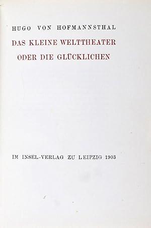 Das kleine Welttheater oder die Glücklichen: Hofmannsthal, Hugo von; Aubrey Beardsley (ill.)
