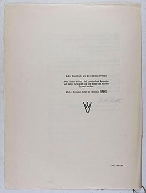 Beethoven: Gedicht von Justus Lichten mit Originalradierung von Arno Nadel [SIGNED]: Lichten, ...