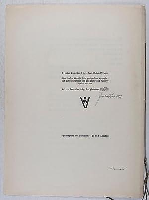 Eroica: Gedicht von Justus Lichten mit einer Originalradierung von Arno Nadel [SIGNED]: Lichten, ...