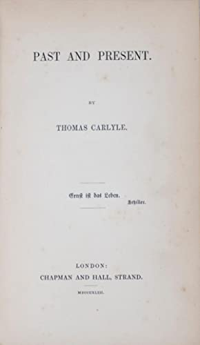 Past And Present By Thomas Carlyle 1843 First Edition border=