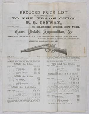 Reduced Price List. September 1877. To the: T. C. Conway