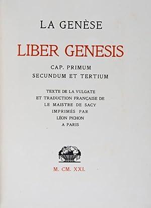 La Genèse. Liber Genesis. Cap. Primum, Secundum et Tertium. [SIGNED]: Hermann-Paul (...