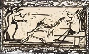 Bestiaire. Original drawing in India ink: Remizov, Aleksei Mikhailovich