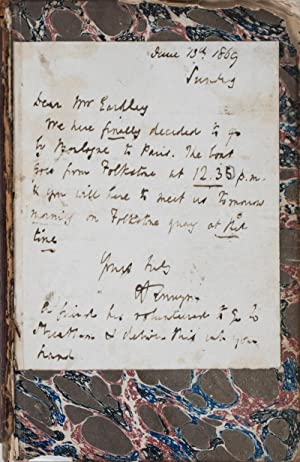 Poems [WITH A SIGNED LETTER FROM THE: Tennyson, Alfred Lord