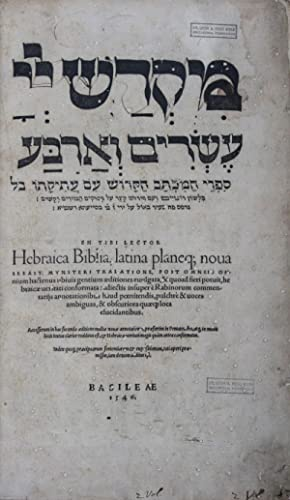 En Tibi Lector Hebraica Biblia latina planeq;: Münster, Sebastian