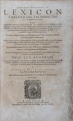 Lexicon chaldaicum, talmudicum et rabbinicum : in: Buxtorfii, Johannis (Johannes
