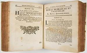 Horae Hebraicae et Talmudicae in universum Novum Testamentum :quibus Horae Jo. Lightfooti in libris...