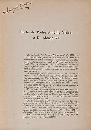 Carta do Padre António Vieira a D. Afonso VI (1657): António Vieira