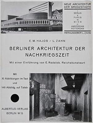 Berliner Architektur der Nachkriegszeit (Prospectus): Hajos, E. M.; L. Zahn;