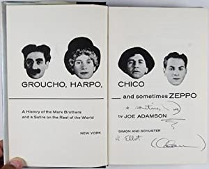 Groucho, Harpo, Chico and sometimes Zeppo. A Celebration Of The Marx Brothers. [INSCRIBED AND ...