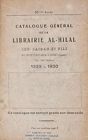 35ème Année. Catalogue Général de la Librairie Al-Hilal. Ibr. Zaidan et...