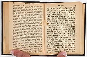 Pentateuch nebst den Hastaroth mit deutscher Uebersetzung und Beigabe der Sabbathgebete: n/a