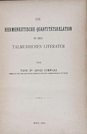 XXIII. Jahresbericht der Israelitisch-Theologischen Lehranstalt in Wien für das Schuljahr 1915/1916...