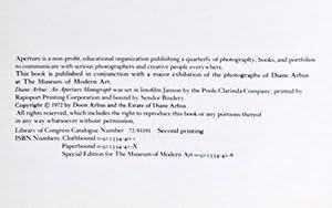 Diane Arbus: An Aperture Monograph [RARE VARIANT]: Arbus, Diane; Doon Arbus & Marvin Israel, ...