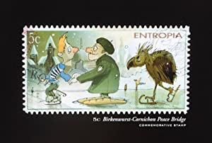 Entropia: A Collection of Unusually Rare Stamps [SIGNED, WITH ORIGINAL DRAWING BY ILLUSTRATOR]: ...