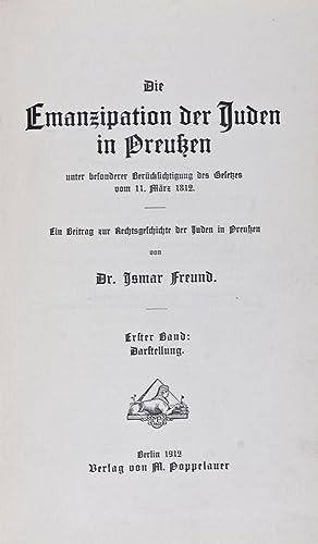 Die Emanzipation der Juden in Preußen unter besonderer Berücksichtigung des Gesetzes vom...