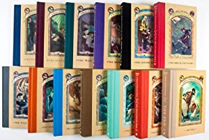 A Series of Unfortunate Events. Complete set of 13 volumes + Promotional Items [SIGNED BY HELQUIST ...
