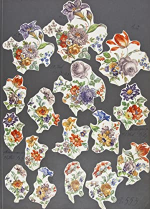 Unique Vintage Sample Book of Various Printed Motifs for Faience and Ceramics (Floral, Fruits, ...