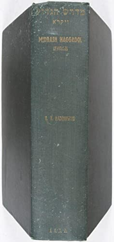 Midrash Haggadol: Leviticus. Being a Compilation of Halakic and Haggadic Passages to the Pentateuch...