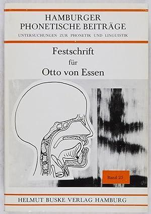 Hamburger Phonetische Beiträge: Untersuchungen zur Phonetik und Linguistik, Band 25 : ...