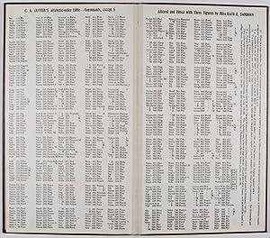 C. A. Cutter's Cutter-Sanborn Three-Figure Author Table: Cutter, Charles A.; Kate Emery Jones ...