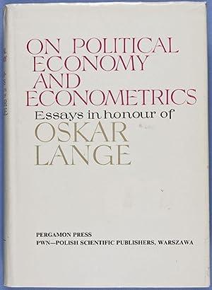 On Political Economy and Econometrics. Essays in Honour of Oskar Lange: n/a