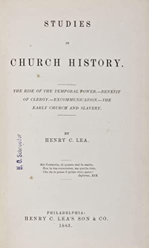 Studies in Church History: The Rise Of The Temporal Power - Benefit Of Clergy - Excommunication - ...
