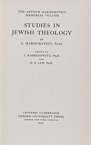 The Arthur Marmorstein Memorial Volume: Studies in Jewish Theology: Marmorstein, A.