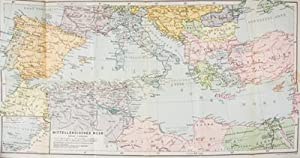Das Mittelmeer, Hafenplätze und Seewege nebst Madeira, den Kanarischen Inseln, der Küste ...