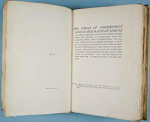 The Poems of Shemseddin Mohammed Hafiz of Shiraz: Payne, John